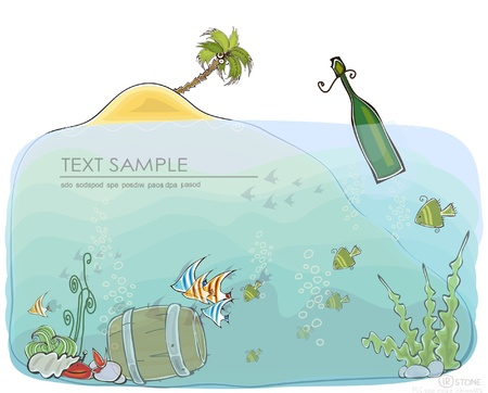 under water grass:  Happy world  collection