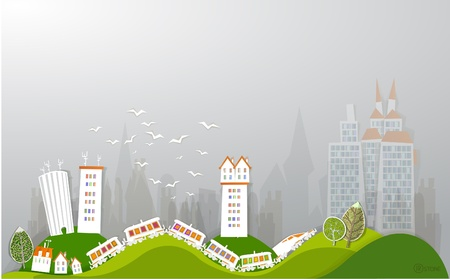 city and train  White city  collection Vector