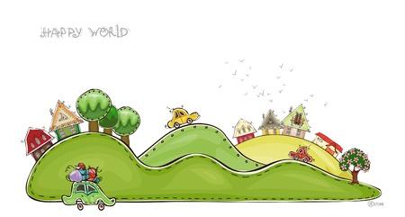 siembra: los pueblos de la colecci�n mundial Happy Hills