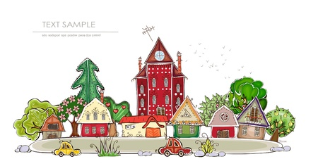 countryside and gardens Happy world collection Vector