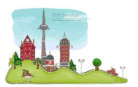 city background   Happy world  collection Stock Vector - 13175911