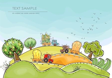 農家: 収穫背景幸せの世界コレクション