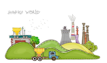 nuclei: industrial background   Happy world  collection