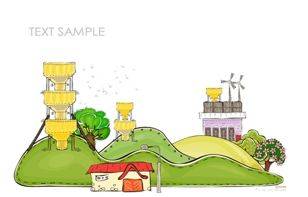 nuclei: organic farm background