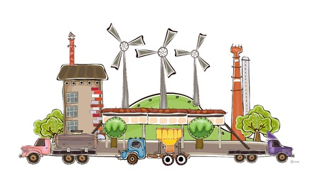 wind power station  Vector