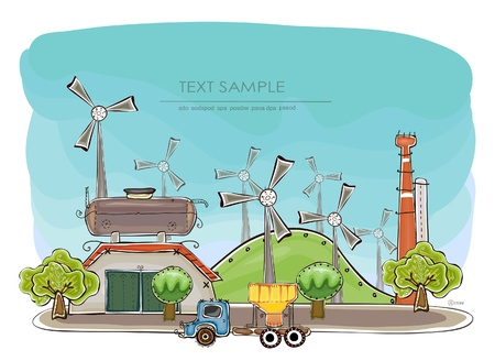 industrial background   Happy world  collection  Vector