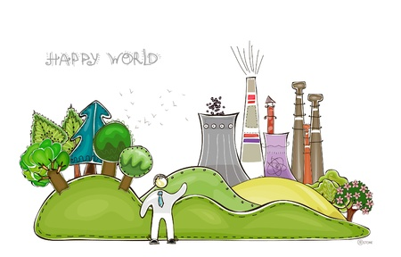 happy world: fondo industrial colecci�n de mundo feliz