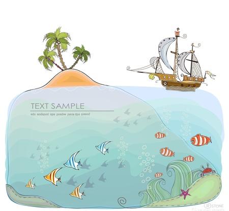ile au tresor: en vertu de la collection au monde de la mer Heureux