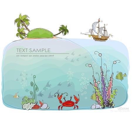 carribean: mar Caribe de fondo recogida mundo feliz