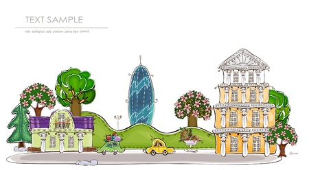 city Happy world collection Vector