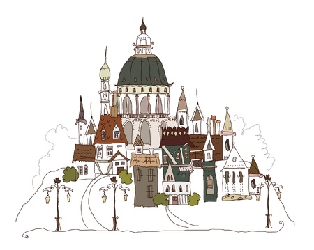 old city Vector