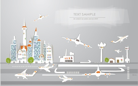 airport 'White city'collection Vector