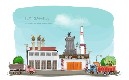 factory illustration Vector
