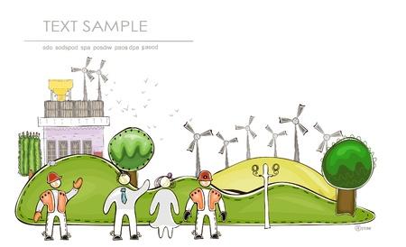 wind power jenerator  Vector
