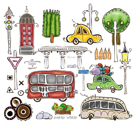 city design elements Vector