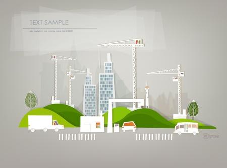 environnement entreprise: de fond du site de construction