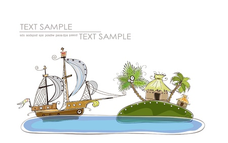 sea grass: time to travel Illustration
