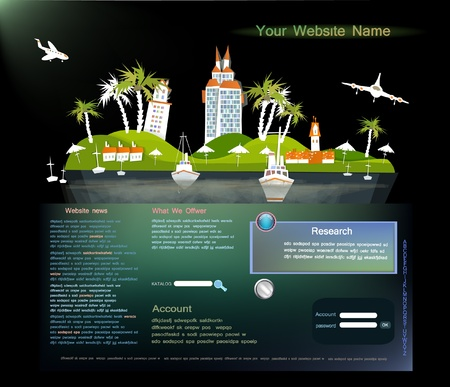 web page: web template Travel to the paradise
