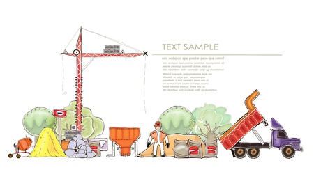 building site illustration Vector