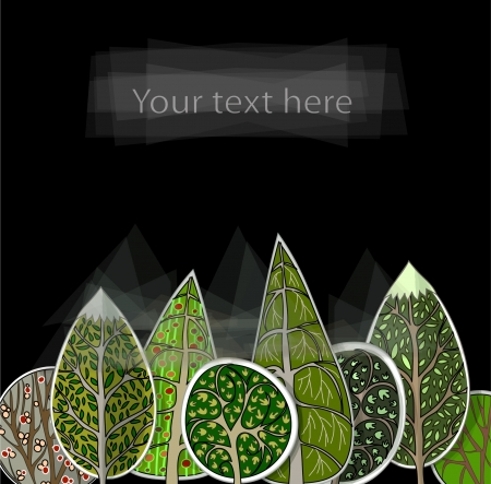 abstract forest background Vector