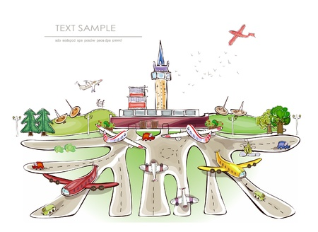 airport illustration Vector