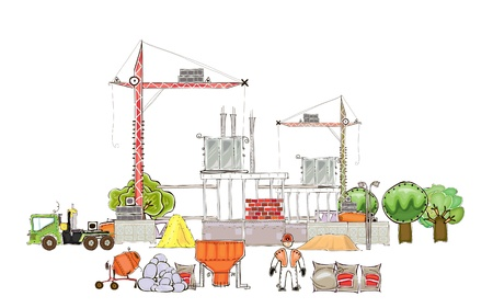 building site: building site background Illustration