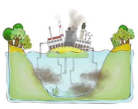 environmental issue: polluted water concept background