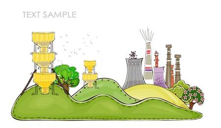 grote fabriek illustratie