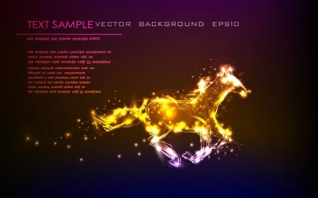 neon horse Stock Vector - 14070392