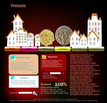 city web template Stock Vector - 14092572
