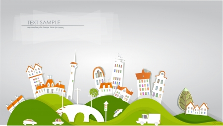 city background White city collection
