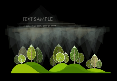 garden design: abstract forest Illustration
