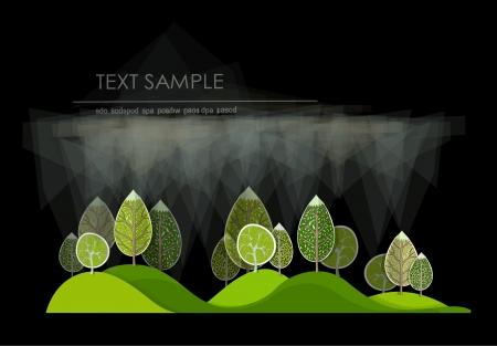 garden design: foresta astratta Vettoriali