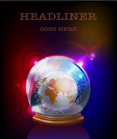 globe in glass ball Vector