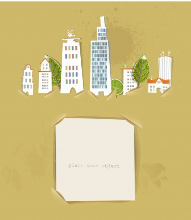 city street and paper background Stock Vector - 14069784