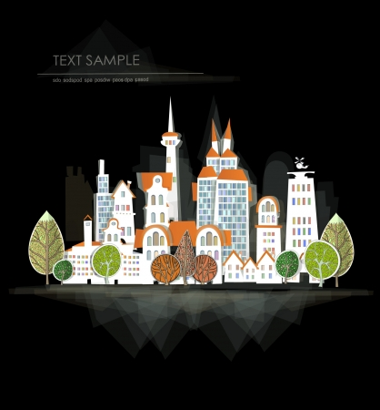 city background Stock Vector - 14069775