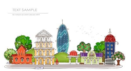 web design bridge: city background  Happy world  collection
