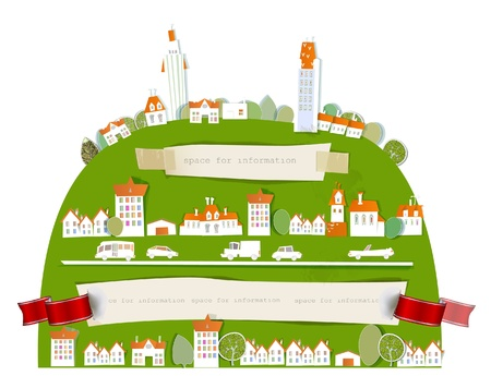 big city on the hill Stock Vector - 14291597