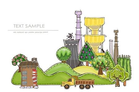 paesaggio industriale: illustrazione industriale