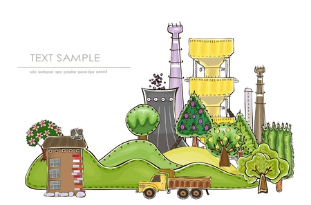industrial park: industrial illustration