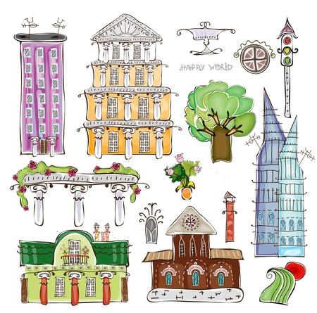 new york street: ville set 2 Illustration