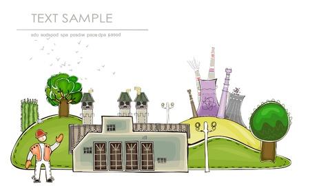 productos quimicos: industrial de vista de colección del mundo feliz