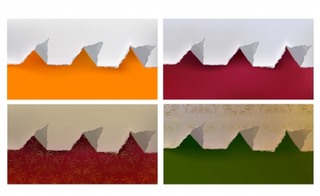 ripped paper backgrounds set Vector