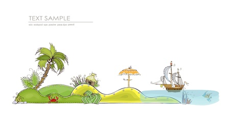 travel to the paradise islands background Vector