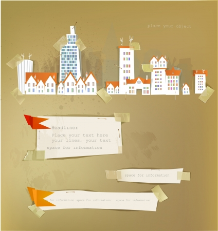 city street and paper backgrounds Stock Vector - 14461098
