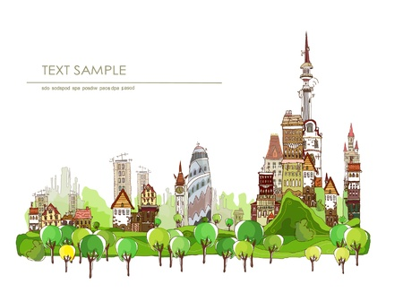 city and green park Vector