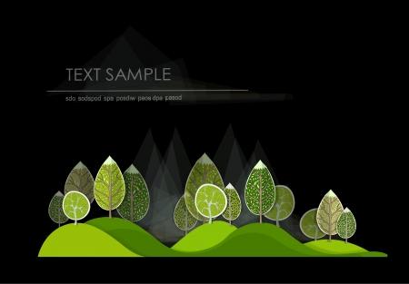 abstract forest Ilustração