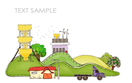 industry and nature Vector