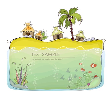 floating on water: tropic holiday background
