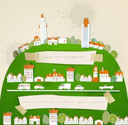Big city on the hill Stock Vector - 14996961